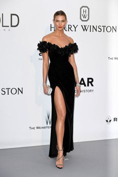 AMFAR CINEMA AGAINST AIDS GALA SUPPORTED BY BELVEDERE VODKA AND HARRY WINSTON Karlie Kloss in Marchesa