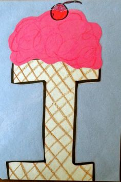 swellchel learning at home alphabet crafts letter i ice cream