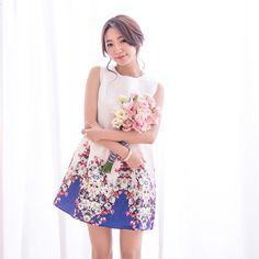 浪漫花朵刺繡小洋裝