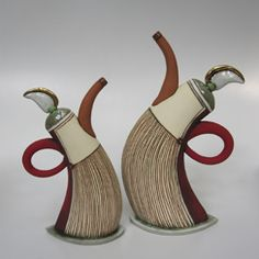 Hennie Meyer Ceramics - Wow!  I love these teapots!