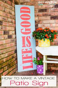 Vintage Patio Sign |