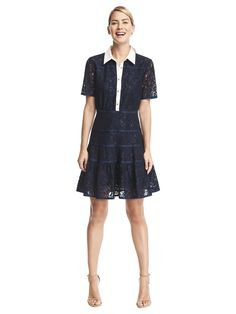 Meadow Lace Shirtdress | Draper James