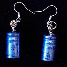 geek jewellery - handmade capacitor earrings - geek chic