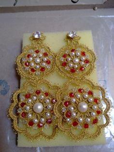orecchini con perle e swaroski