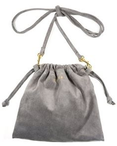 I like things that are beautiful in an unassuming way, kinda like this Claire Vivier drawsting bag.