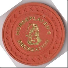 """This is a poker chip from the Horseplayer's """"Recreation"""" Poker Club in Vancouver, British Columbia. The club closed many years ago when the majority of poker games were moved into legalized casinos."""