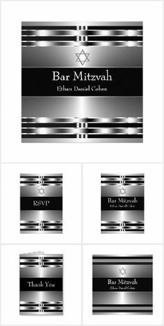 Black Silver Bar Mitzvah
