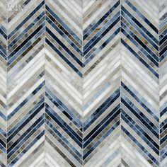 Editors' Picks: 41 Powerful Building Products   Sara Baldwin's Ombre Chevron glass mosaics in Lavastone, Zircon, and Alabaster by New Ravenna #design #interiordesign #interiordesignmagazine