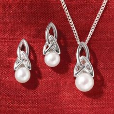 In the heart of Dublin, designers at a family-owned jewelry studio draw on the backdrop of their ancient city, founded in the 8th century, to create classic designs that incorporate classic Celtic motifs. These sterling silver and freshwater pearl accents feature a classic Celtic trinity knot, also called the triquetra. Found in ancient Celtic texts like the Book of Kells, it has also become a symbol of the Christian holy trinity. In Celtic tradition, it symbolizes strength and unity--the…