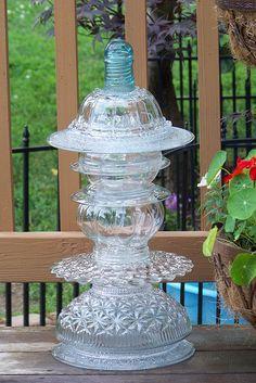 glass garden totem  by Gray Dog 2010, via Flickr