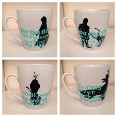 Frozen Mug Set by Cafe47 on Etsy, $35.00