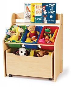 Details about Kid's Room Book Shelf + Toys Bin Organizer Storage Box Kids Storage Units, Toy Storage Boxes, Storage Ideas, Storage Design, Storage Chest, Playroom Storage, Storage Tubs, Bookcase Storage, Bedroom Storage
