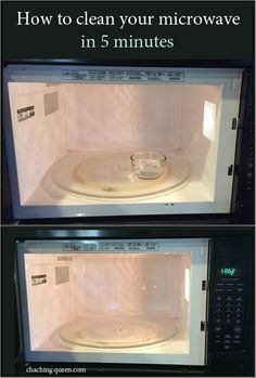 How To Clean Your Microwave With Vinegar And Steam