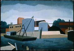 Near New London, 1940. Niles Spencer. Oil on canvas (damaged).