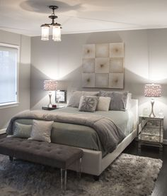 Bedroom from an Arlington, Virginia Home. Lighting design by Antonella Bonvicini in our Arlington Lighting Showroom.