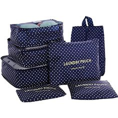 HiDay 7 Set Packing Cube System - 3 Travel Cubes + 3 Pouches + 1 Premium Shoe Bag - Perfect Travel Luggage Organizer