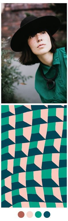 Color Collective inspired by our #Fossil Pool Tile Pattern
