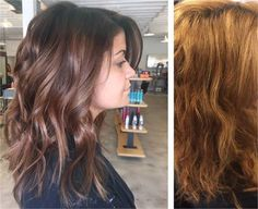 Haircolor Correction: Brassy and Not Believable to Rich Brunette - Hair Color - Modern Salon Rich Brunette Hair, Brunette Color, Ombre Hair Color, Brown Hair Colors, Blonde Long Layers, Brown To Blonde, Brassy Hair, Hair Fixing, Hair Makeup