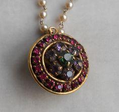 Long Strand Pearl and Rhinestone Necklace 1950s 1960s Beads. $35.00, via FamilyJewelsNYC.etsy.com #vintage
