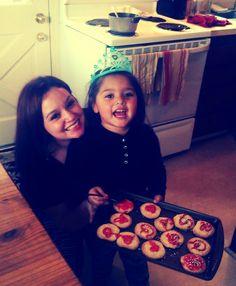 Bella made Christmas cookies.I