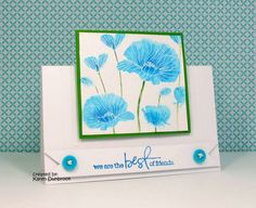 WT335, Blue Poppies by k dunbrook - Cards and Paper Crafts at Splitcoaststampers