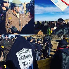 The Columbus Day where a black man stands against the Indians on their own land... In the presence of a Muslim supporter of Mni Wiconi. I've now seen it all Amerikka. Thanks #mniwiconi #waterislife #standingrock #candywolves #lutstamp