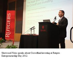 JOBS Act's Crowdfund Investing Architect Speaks at Rutgers