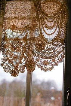 """fancitaste: """"Pinterest """" Lace Curtains, Window Curtains, Vintage Curtains, Waverly Curtains, Gypsy Curtains, Lace Window, Roman Curtains, Layered Curtains, Short Curtains"""