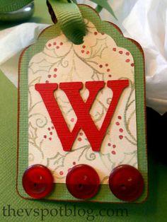 http://thefrugalgirls.com/2011/12/homemade-gift-tag-ideas.html