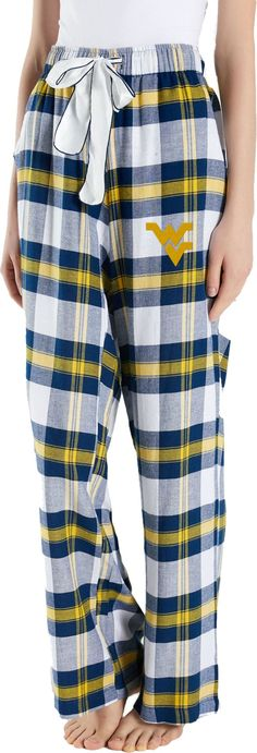 Concepts Sport Women s West Virginia Mountaineers Blue Gold Homestretch  Sleep Pants bba8025f7