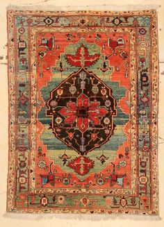 "Lot: Azeri Heriz Rug: 4'9"" x 6'6"" (145 x 198 cm), Lot Number: 0121, Starting Bid: $100, Auctioneer: Material Culture, Auction: Oriental Rugs from American Estates, Date: June 14th, 2015 CEST"