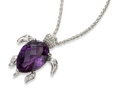 Beautiful Amethyst Turtle Necklace. I want this so badly!!!