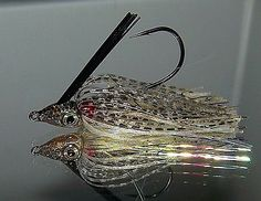 Custom Painted SUMP'N SUMP'N JIGS 1/4 oz Swim Jig Bass Lure Golden Shiner