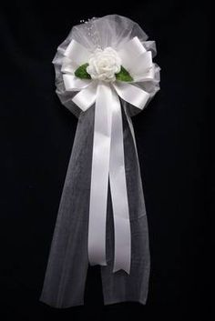 Time of Innocence Pew Bow @ eFavormart.com $5.95 customize flower and ribbon color