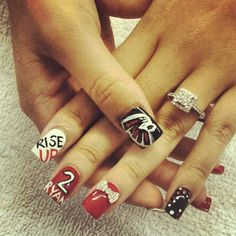 Atlanta Falcons Nail Decals By Thirstywillow On Etsy 2 75 Beloved And Hawks Pinterest Paznokcie I