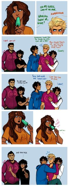 Resultado de imagen de pjo hoo fan art I love all of their faces. Nico is in awe and frank is like 'what the heck' and Jason, Percy, and Leo look horrified Percy Jackson Fandom, Arte Percy Jackson, Percy Jackson Memes, Percy Jackson Books, Percy Jackson Fan Art Funny, Percy Jackson Comics, Percabeth, Solangelo, Piper E Jason