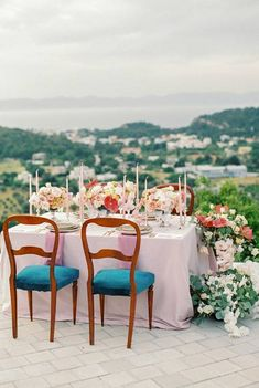 Portfolio of the destination weddings, baptisms and parties, we have previously organised on beautiful locations all over Greece Wedding Table Setup, Bridal Table, Wedding Set Up, Luxury Wedding, Wedding Centerpieces, Wedding Ceremony, Wedding Flowers, Destination Wedding Planner, Wedding Planners