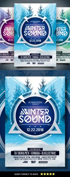 #Winter Sound #Flyer - Clubs & Parties #Events
