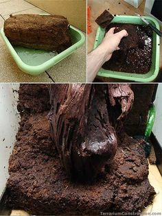 Peat brick for making terrarium and paludarium river
