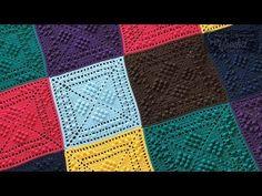 Granny Square Tutorial, Granny Square Afghan, Square Blanket, Granny Squares, Afghan Crochet Patterns, Crochet Squares, Stitch Patterns, Crochet Granny, Crochet Blocks