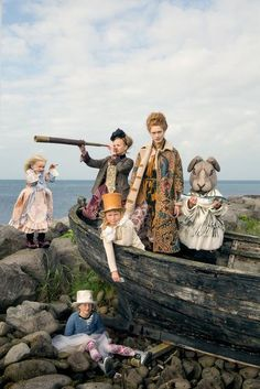 ilva heitmann by elisabeth toll for grazia germany december 2014 love this photographers self portraits this art work is based on alice in wonderland getting beached after the sea of tears Lost Girl Fashion, Fashion Story, Look Fashion, Fashion Kids, High Fashion, Kids Fashion Photography, Children Photography, Editorial Photography, Glamour Photography