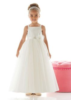A-Line/Princess Ankle-Length Empire Square Neck Organza Beautiful Flower Girl Dress