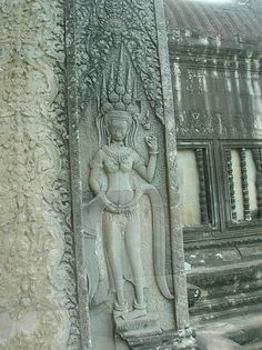 Photo of Angkor Wat: Apsara Near Gate Sculpture Art, Sculptures, Ta Prohm, Religion, Temple City, Khmer Empire, Buddhist Temple, Angkor Wat, 12th Century
