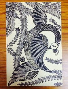 Painting Peacock Painting, Peacock Art, Fabric Painting, Peacock Design, Madhubani Art, Madhubani Painting, Art Sketches, Art Drawings, Peacock Pictures