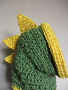 Handmade Crochet Dinosaur Hood Child / Adult size hooded cowl animal hood