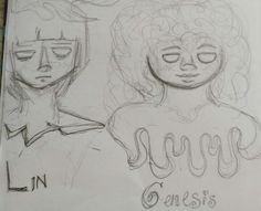 Lin and Genesis, my friend's OCs. We're working on a comic together and these are two of the main characters.
