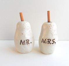 White Speckled Pears for your Shabby Chic by indigotwinweddings, $30.00