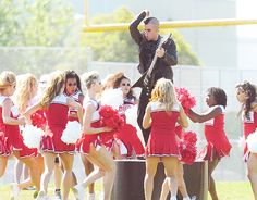 Puck dances + performs for the Cheerios in the 'Choke' episode