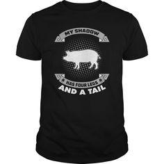 (New Tshirt Deals) My Shadow Pig 0316 [Tshirt Facebook] Hoodies, Funny Tee Shirts