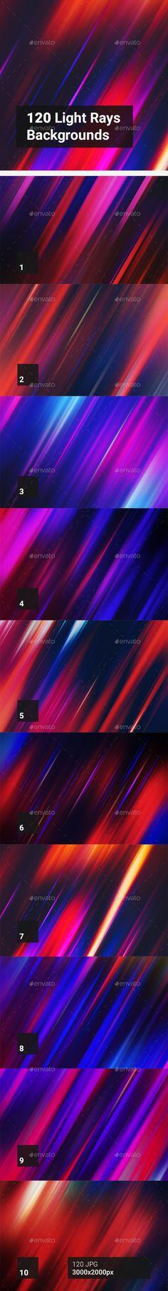 120 Light Rays Backgrounds